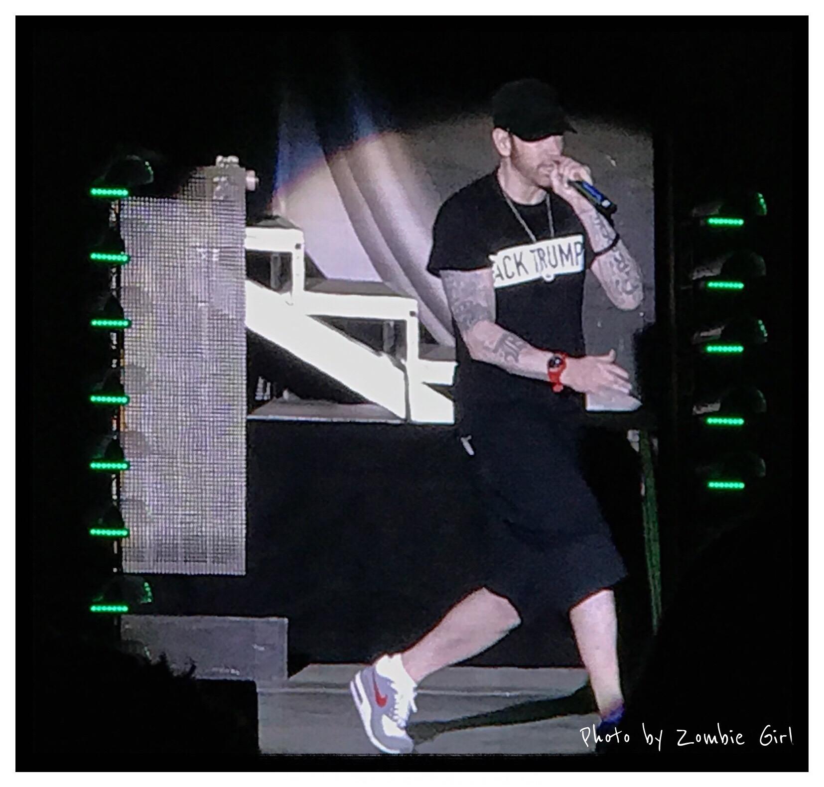 Eminem shares his political views at Leeds 2017